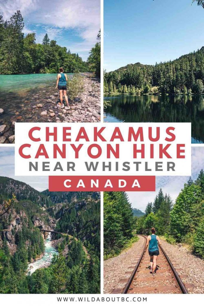 Cheakamus Canyon Trail | Walk high above Cheakamus River and take in the glorious mountain views on the Cheakamus Canyon Trail just outside of Squamish, BC