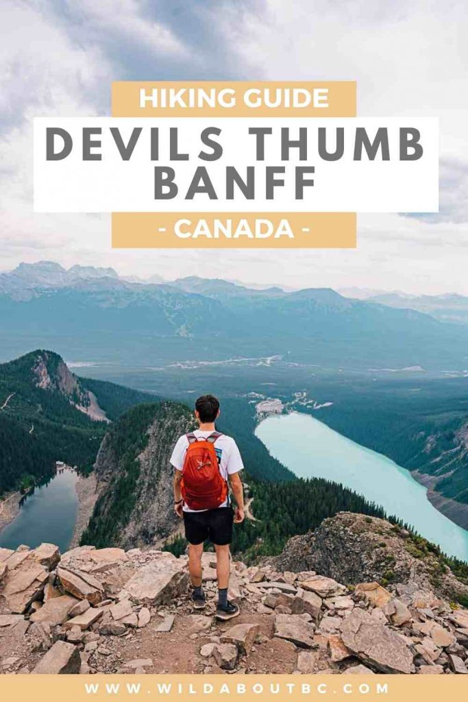 Devils Thumb Hike in Lake Louise, Banff | Amazing views of Lake Louise and Lake Agnes from this challenging hike