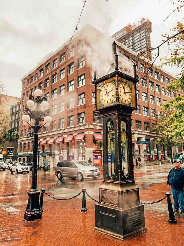 Gastown steam clock, downtown Vancouver