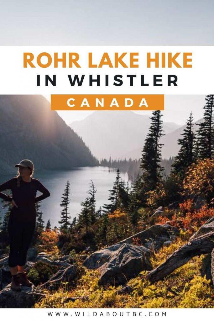 Rohr Lake Hike Near Whistler, British Columbia