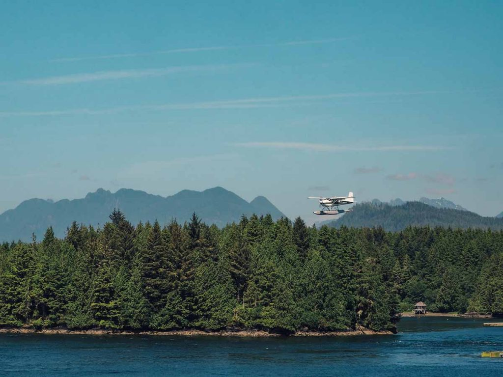 A seaplane from Vancouver to Tofino
