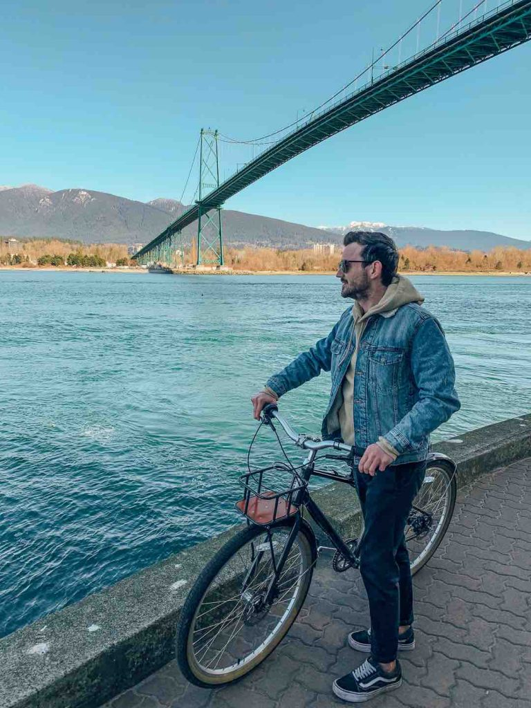 Biking Stanley Park Seawall