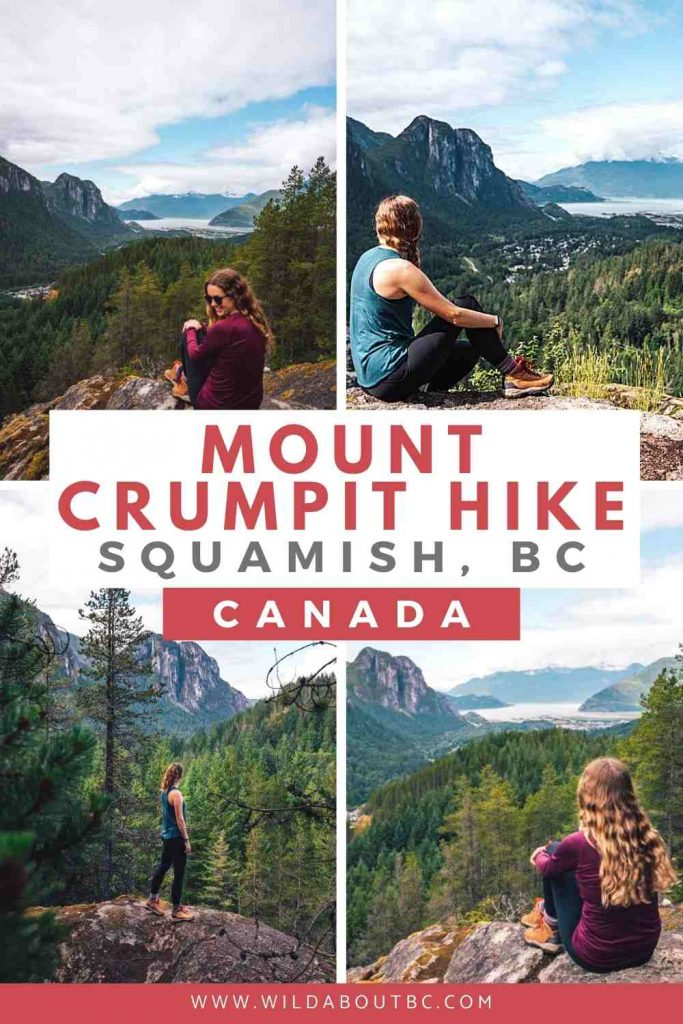 The Mount Crumpit hike in Squamish is a great moderate hike with cool views of the Stawamus Chief, Squamish town and Howe Sound.