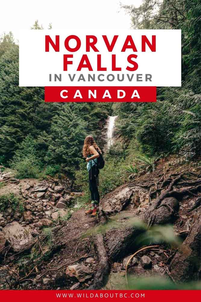 Norvan Falls Hiking Trail | The Norvan Falls Hike is an awesome day hike close to downtown Vancouver. Check out this complete guide on how to reach this spectacular waterfall!