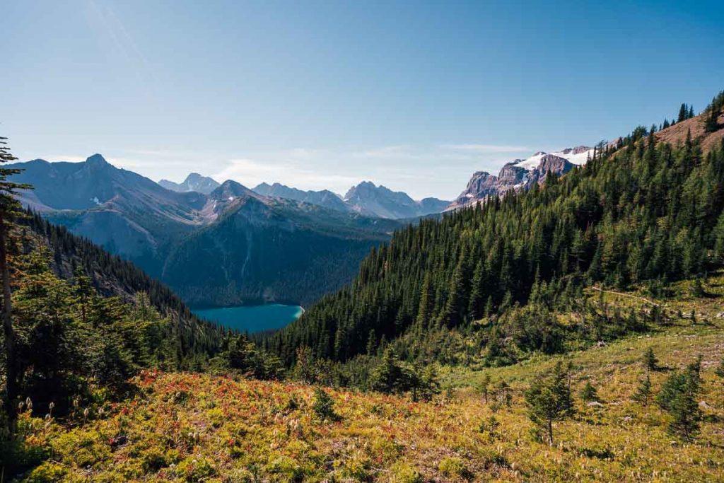 Wonder Pass Assiniboine and Marvel Lake views
