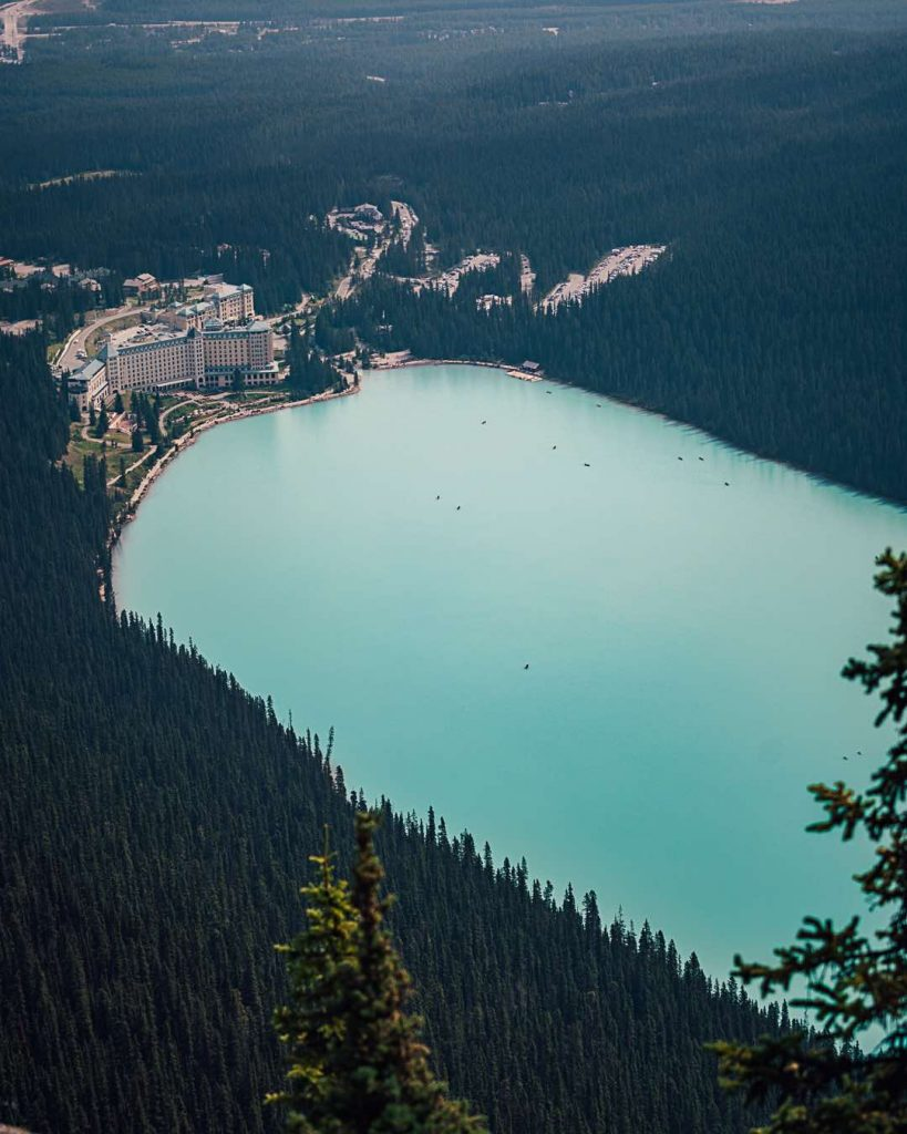 Fairmont Chateau Lake Louise during 4 day itinerary Banff