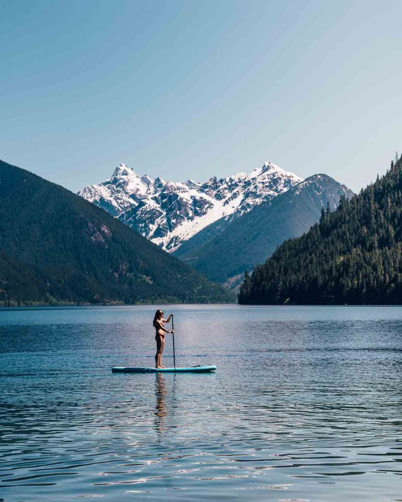 Stand-up paddle boarding at Chilliwack Lake