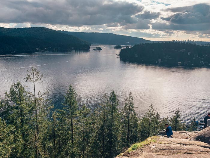 Quarry Rock lookout views over Indian Arm and over to Belcarra